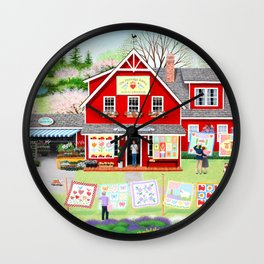 Springtime Wishes Wall Clock
