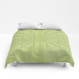 Green sun - solid colors and lifestyle Comforters