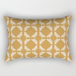Orange Zest Arts and Crafts Butterflies Rectangular Pillow