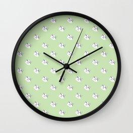 Derp Cat in Green Wall Clock