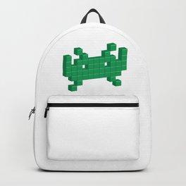 3D Space Invader Pixel Monster Greeen Backpack