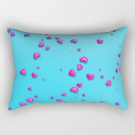 VALENTINE HEARTS - Pink Plastic Hearts Rectangular Pillow