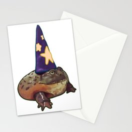 Chunky Toad Wizard Frog Humor Halloween Costume Pet Portrait Stationery Cards
