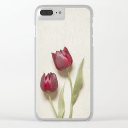 Two Red Tulips II Clear iPhone Case