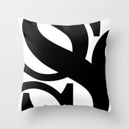 Hidden Letters. Baskerville S Throw Pillow