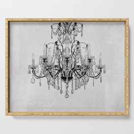 belle epoque chandelier Serving Tray
