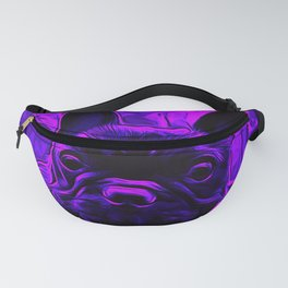french bulldog basketball vector art purple Fanny Pack