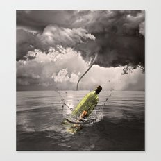 Johnny VS Tornado Canvas Print