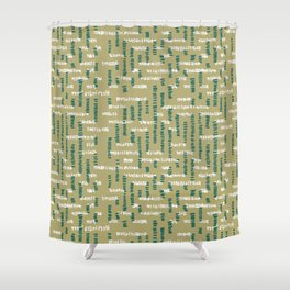 Tribal Maze Shower Curtain