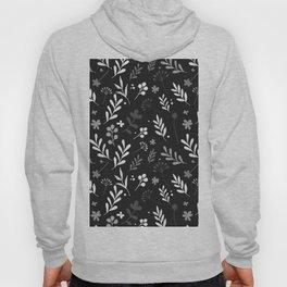 Floral Pattern - Black Background Hoody