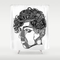 danny haas Shower Curtains featuring Danny by Alastair Vanes