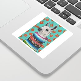 Llama in sweater Sticker