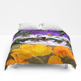 Spring Floral Collage Comforters