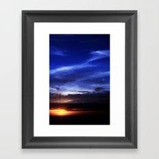 Evening Sky Framed Art Print