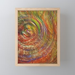 Waves of Trippy Grass Framed Mini Art Print