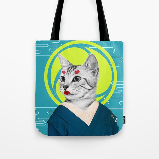 Geisha Cat Tote Bag