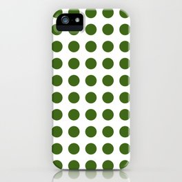 Simply Polka Dots in Jungle Green iPhone Case