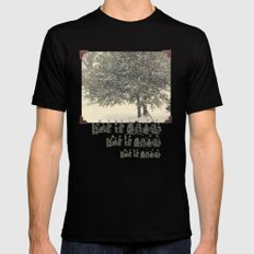 Live Oak in the Snow Mens Fitted Tee MEDIUM Black