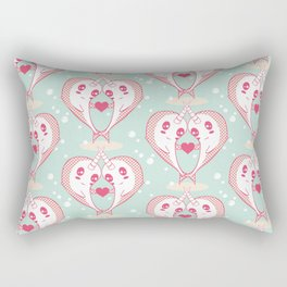 Narwhals in Love Rectangular Pillow