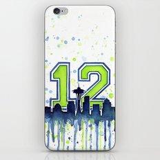 Hawks 12th Man Fan Art Seattle Space Needle iPhone & iPod Skin