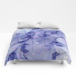 Storm clouds cubed Comforters