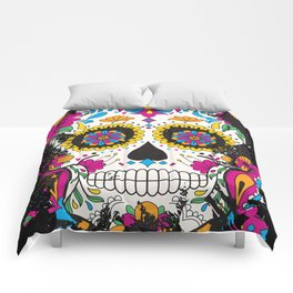 Sugar skull dia de los muertos Comforters