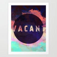 Vacant - Galaxy Eyes & Garima Dhawan Collaboration (VACANCY ZINE) Art Print