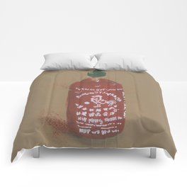 Sriracha Sauce - These are the things I use to define myself Comforters