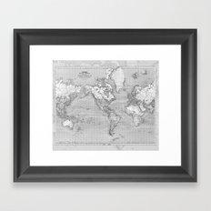 Atlas of the World Framed Art Print