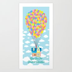 You Are Our Greatest Adventure Up! On Clouds Art Print