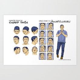 Sharp Tooth character design Art Print
