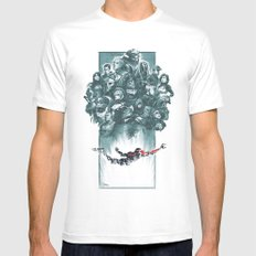 Falling Shepard White Mens Fitted Tee 2X-LARGE