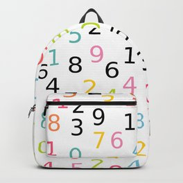 Math Number Backpack