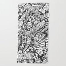 Black & White Jungle #society6 #decor #buyart Beach Towel