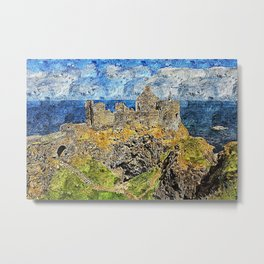 Dunluce Castle Metal Print