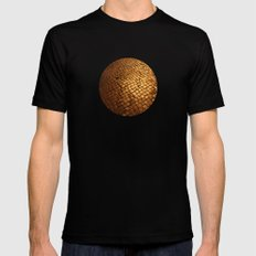 paving stone gold Mens Fitted Tee Black MEDIUM