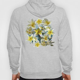 Plumeria on Blue Hoody