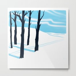 Schussboomer Winter Metal Print