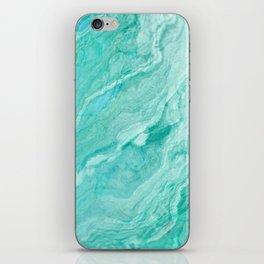 Azure marble iPhone Skin