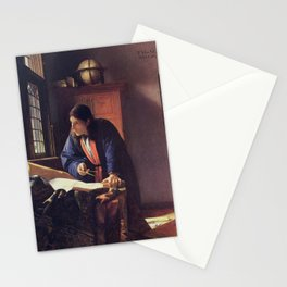 Johannes Vermeer - The Geographer Stationery Cards