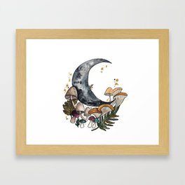 Mushroom Moon Framed Art Print