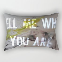 TELL ME WHO YOU ARE Rectangular Pillow