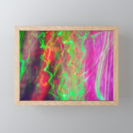 Liquid Light 3 - light painting experiment Framed Mini Art Print