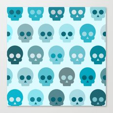 Colorful Skull Cute Pattern II Canvas Print