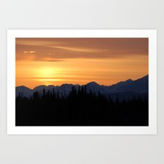 the Midnight Sun Art Print