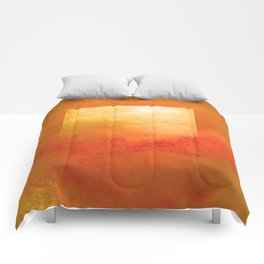 Square Composition III Comforters