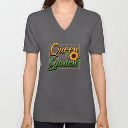 Gardener Queen Saying Women Sun Gift Unisex V-Neck