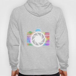 Watercolor Photography camera- Rainbow colored photography lover Hoody