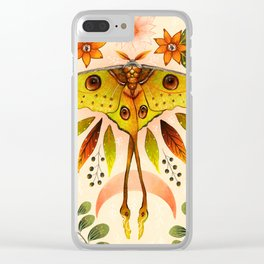 Moth Wings IV Clear iPhone Case