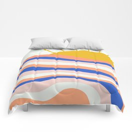 sunrise surf Comforters